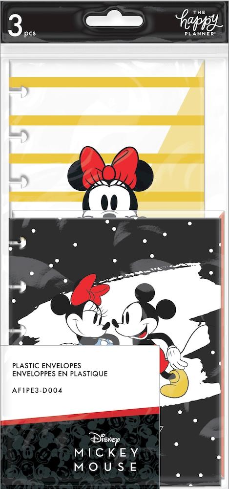 Mickey Mouse and Minnie Mouse Snap In Envelopes - 3 Pack