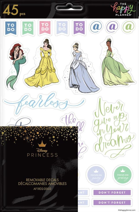 Disney © Princess Strong at Heart Removable Decals