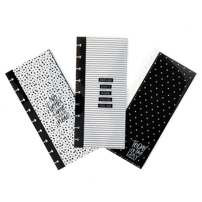 Classic Black & White Snap In Envelopes - 3 Pack