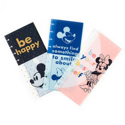 Disney © Mickey Mouse & Minnie Mouse Colorblock Snap In Envelopes - 3 Pack
