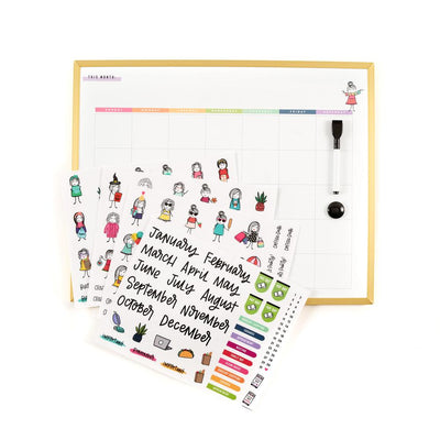 Stick Girls Dry Erase Board