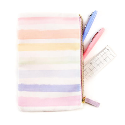 Pastel Rainbow Classic Banded Pouch