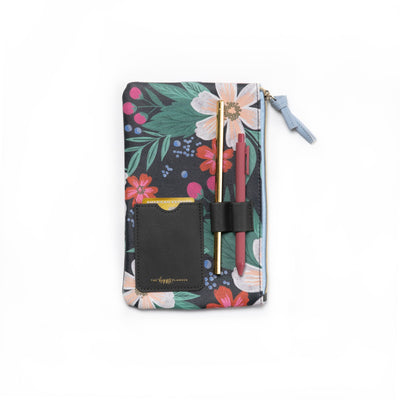 Floral Classic Banded Pouch With Pen Loop