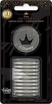 Disney © Princess Gold Glitter Crown Medium Plastic Disc Set