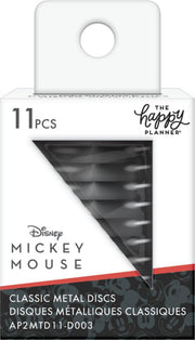Mickey Mouse Medium Metal Disc Set - Black