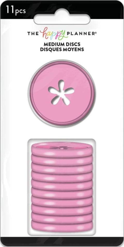 Flower Cutout Medium Disc Set - Bubblegum Pink