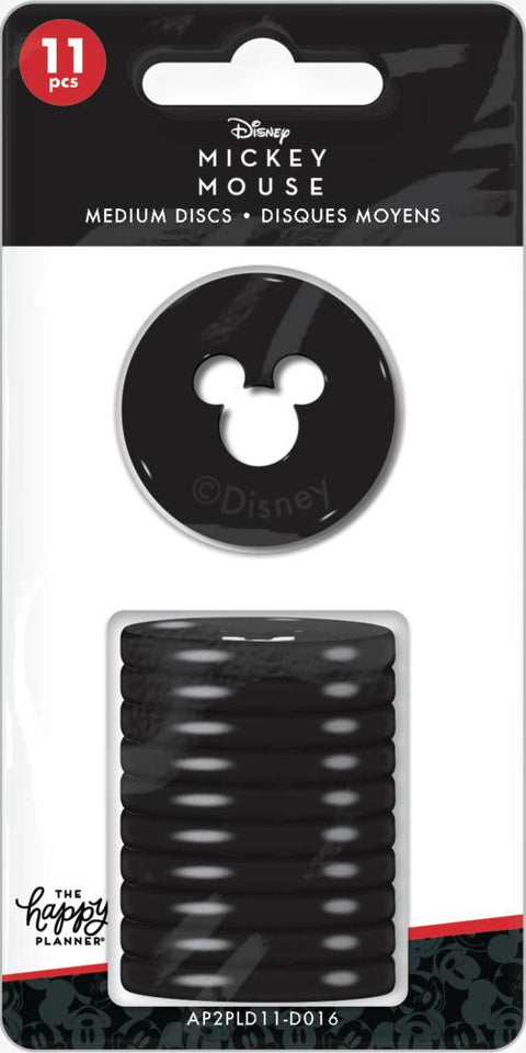 Mickey Mouse Medium Plastic Disc Set - Black