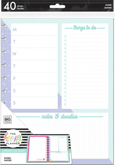 BIG Filler Paper - Weekly Schedule + Notes