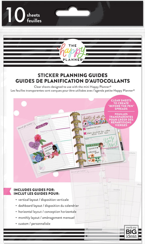 Mini Clear Sticker Planning Guide