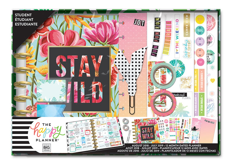 2018 2019 Classic Happy Planner Box Kit Stay Wild Student