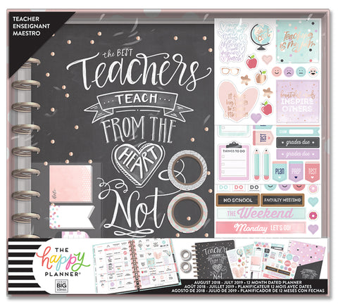 2018 - 2019 BIG Happy Planner® Box Kit - Teach from the Heart - Teacher