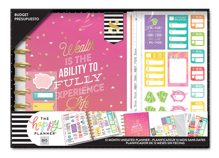 the happy planner 12 month box kit wealth budget me my big