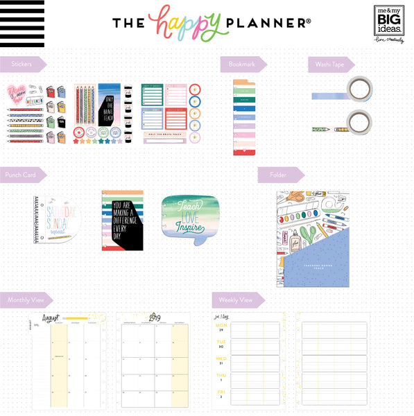 Classic Teacher Happy Planner® Box Kit - 12 Month (2019-2020)