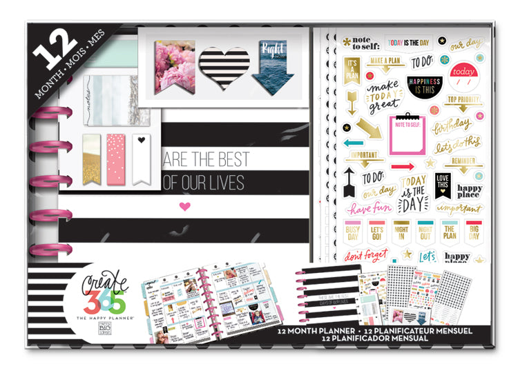 the happy planner 12 month box kit classic best days me my