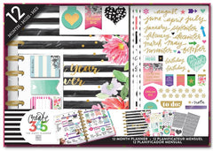 The Happy Planner® 12 Month Box Kit - Classic - Best Year Ever/Stripes