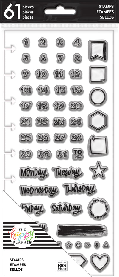 Clear Stamps - Days & Numbers