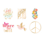 Cool To Be Kind Die Cut Vinyl Decal Stickers - 6 Pack