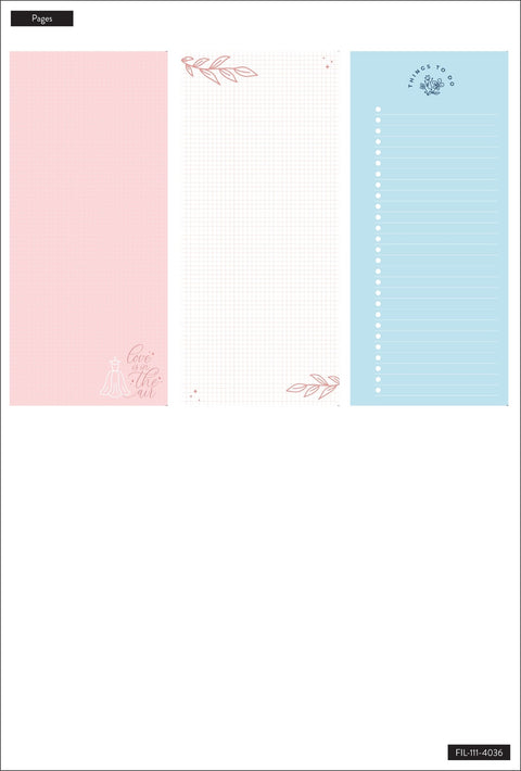 Classic Half Sheet Filler Paper - Wedding