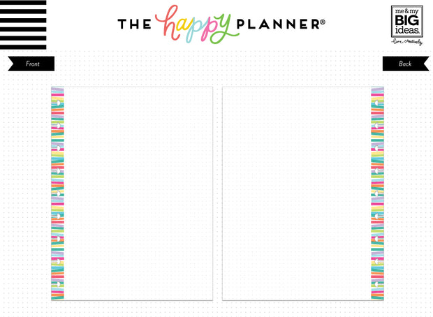 Multi Stripe Dot Grid Fill Paper - Classic