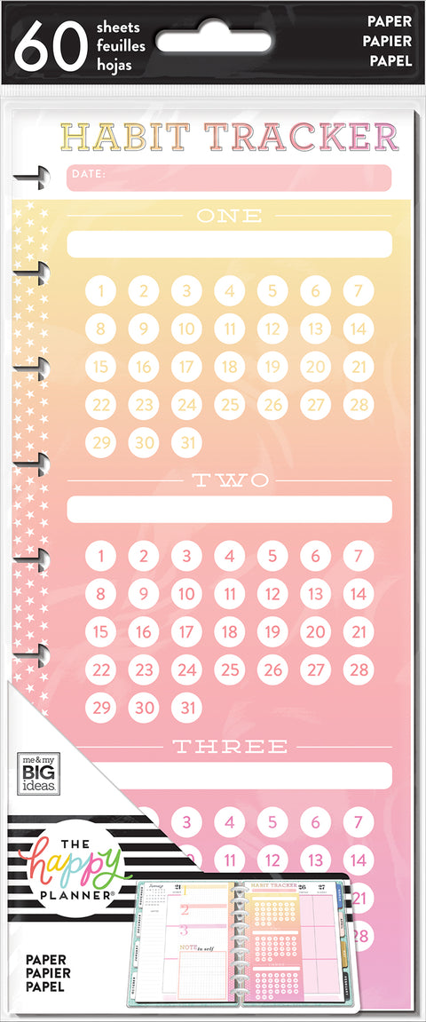 Classic Half Sheet Note Paper - Habit Tracker