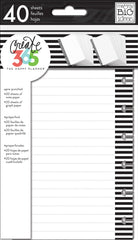 Note & Graph Paper - B&W stripes - Mini