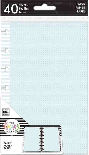 Mini Note Paper - Colored Dot Grid