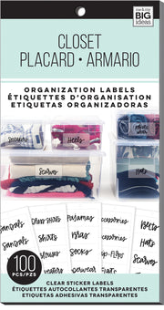 Closet - Organization Labels