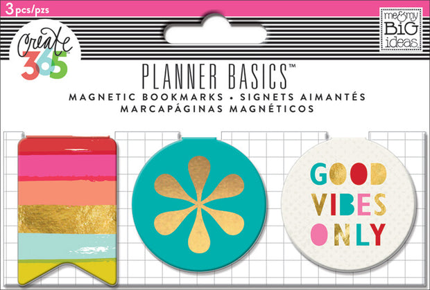 Magnetic Page Clips - Bright - 3 Pack
