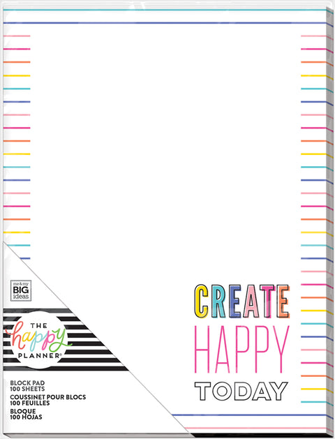 Block Paper Pad - Create Happy