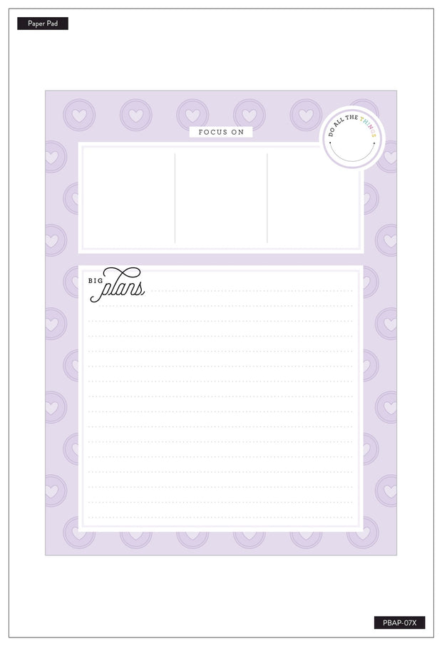 Block Pad Paper - Big Plans - Planner Babe