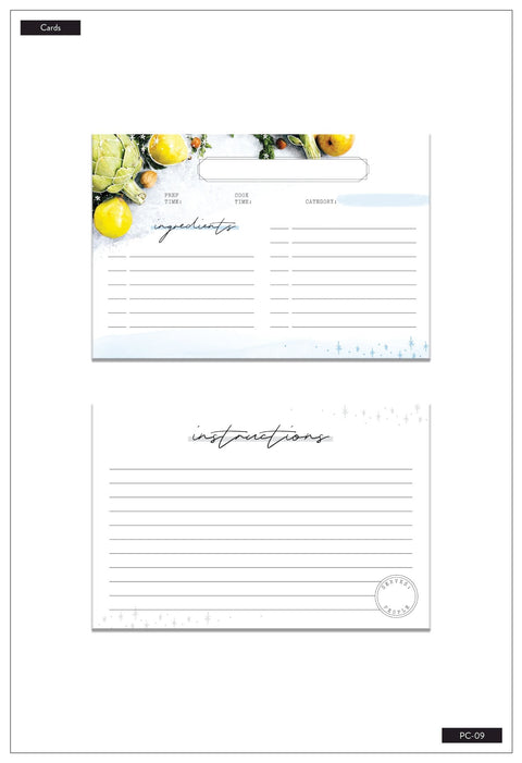 Bon Appetit Foodie Recipe Cards