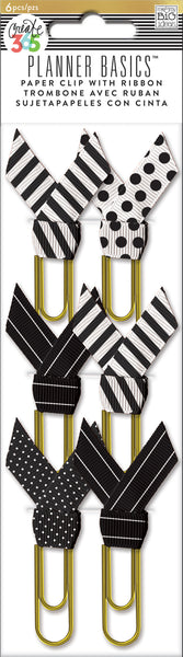 Paperclips with Ribbon - Black & White
