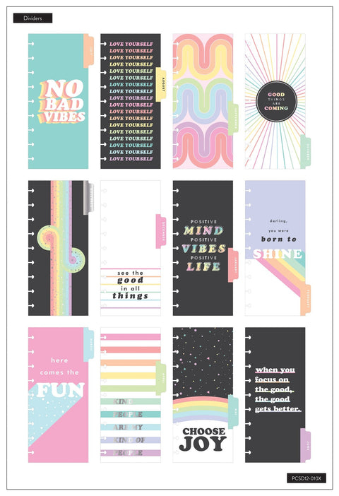Skinny Classic Happy Planner® - Pastel Rainbow - 12 Months