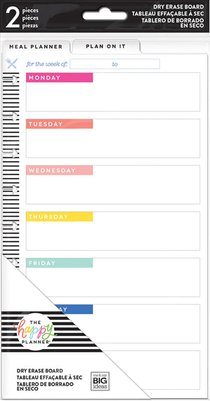 Classic Dry Erase Boards - Meal Planner