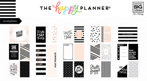 Journaling (Flip) Stickers - Black & White