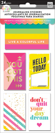 Journaling (Flip) Stickers - Brights