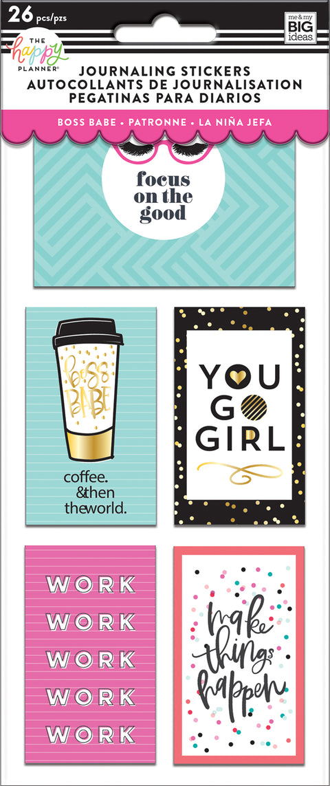 Journaling (Flip) Stickers - Boss Babe