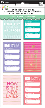 Journaling (Flip) Stickers - Budget