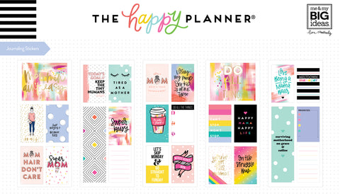 Journaling (Flip) Stickers - Super Mom
