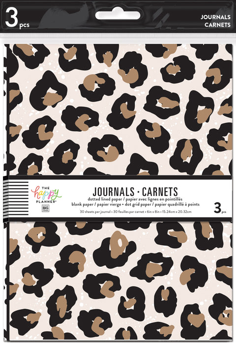 3 Pack Journals - Leopard, Black and White