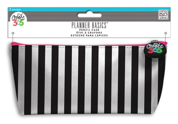 Pencil Case - Black & White Stripes