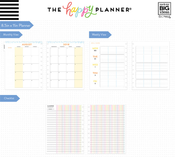 2018 - 2019 BIG Happy Planner® - Teachers Have Class - Teacher