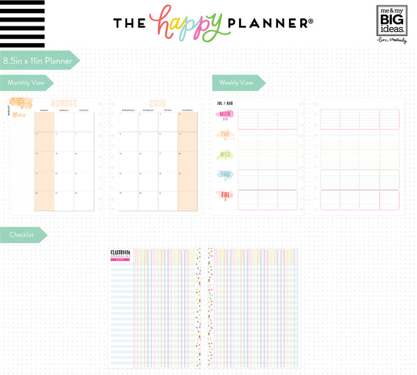 DELUXE 2018 - 2019 BIG Happy Planner® - Kaleidoscope - Teacher