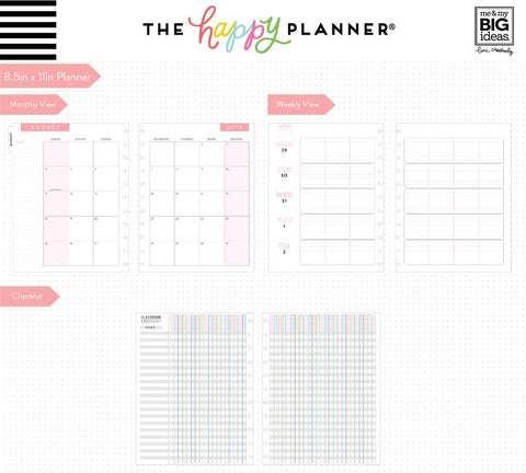 BIG Teacher Planner - Love of Learning - 12 Months (2019-2020)