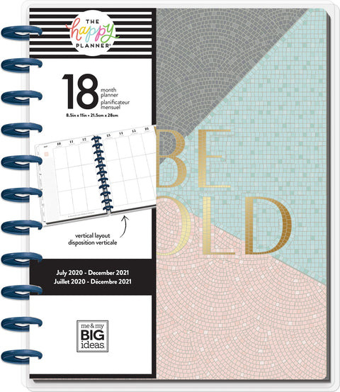 BIG Vertical Happy Planner® -  Marvelous Mosaics - 18 Months