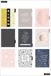 BIG Dashboard Happy Planner® - Floral Line Art - 18 Months