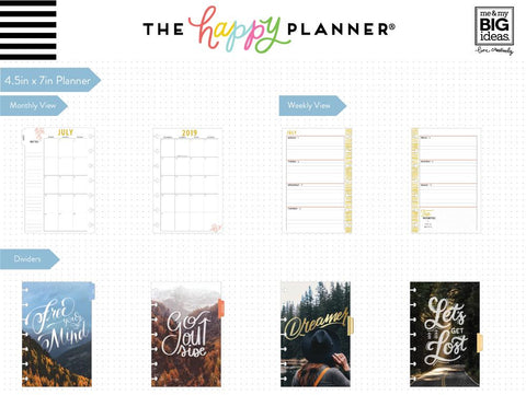 Mini Happy Planner® - Wild & Free - 12 Months (2019-2020)