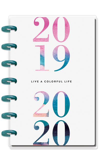 Mini Happy Planner® - Watercolor - 12 Months (2019-2020)