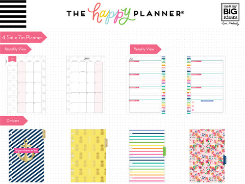 Mini Happy Planner® - Garden Party - 12 Months (2019-2020)