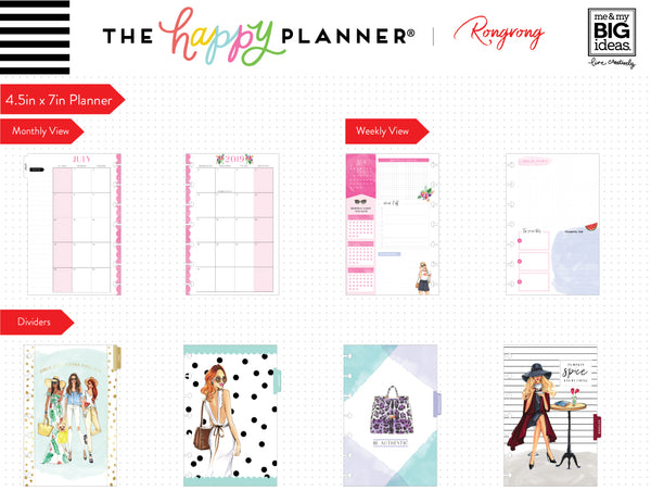 Mini Happy Planner® x Rongrong - Fierce & Fabulous - 12 Month (2019-2020)